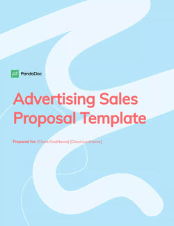 Advertising Sales Proposal Template