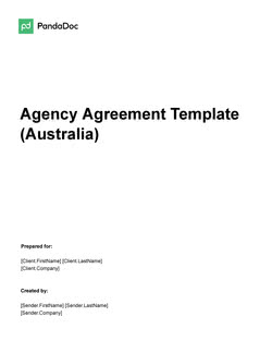Agency Agreement Template (Australia)