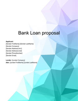 Bank Loan Proposal Template