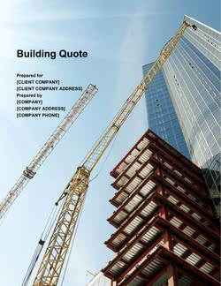 Building Quote Template