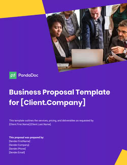 Business Proposal Template UK