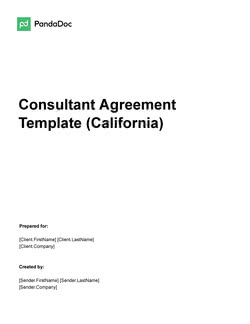 Consulting Agreement Template (California)
