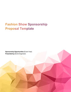 Fashion Show Sponsorship Proposal Template