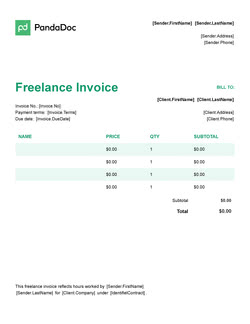 Freelance Invoice Template