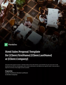Hotel Sales Proposal Template