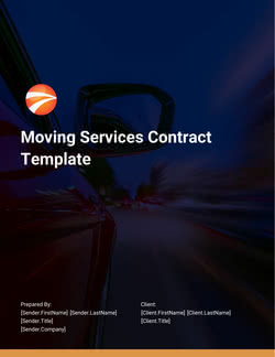 Moving Services Contract Template