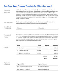 Business Proposal Templates 100 Free Examples Edit Download