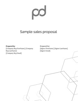 PandaDoc Sample Sales Proposal