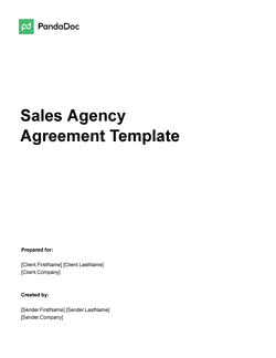 Sales Agency Agreement Template UK