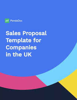 Sales Proposal Template UK