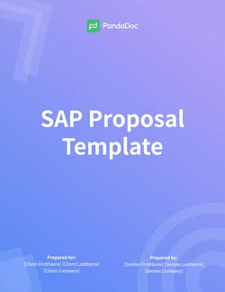 SAP Proposal Template