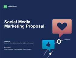 社交媒体营销方案模板