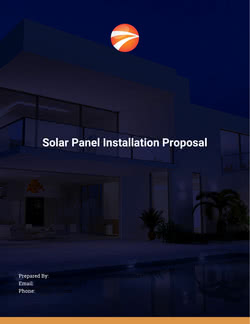 Solar Panel Installation Proposal Template