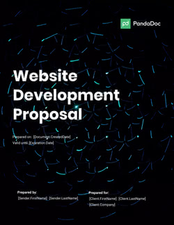 网站开发建议模板