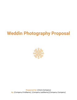 Wedding Photography Proposal Template