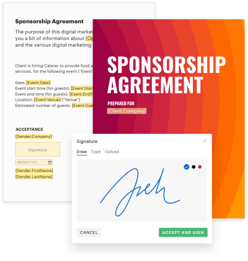 Document - Agreement sponsorship