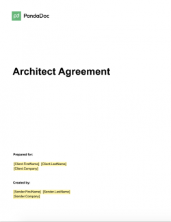 Architect Agreement Template