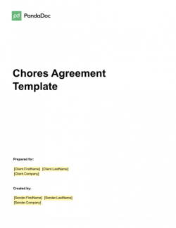 Chores Agreement Template