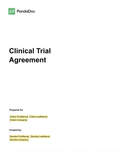 Clinical Trial Agreement Template