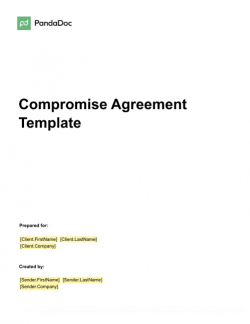 Compromise Agreement Template