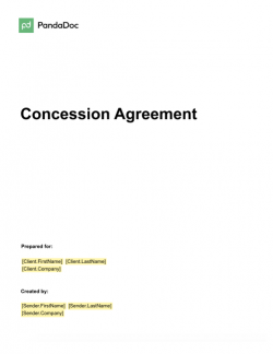 Concession Agreement Template