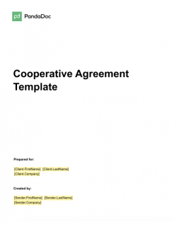 Cooperative Agreement Template