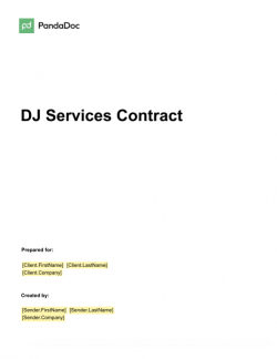 DJ  Services Contract Template