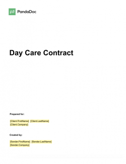 Day Care Contract Template
