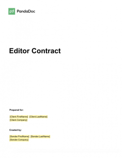 Editor Contract Template