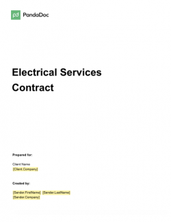 Electrical Services Agreement Template