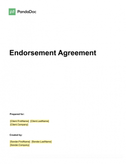 Endorsement Agreement Template