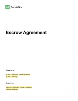Escrow Agreement Template