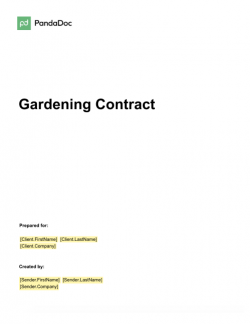 Gardening Contract Template