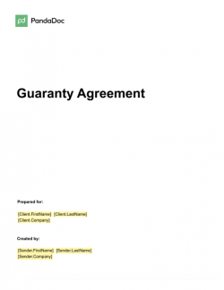 Guaranty Agreement Template