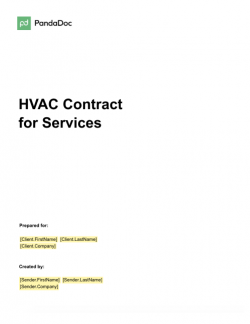 HVAC Contract Template