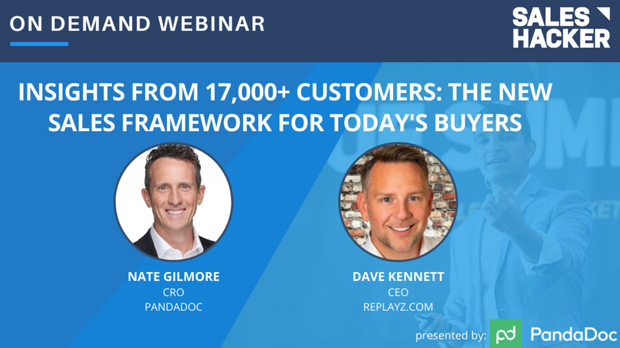 PandaDoc and Sales Hacker: The New Sales Framework for Buyers