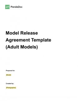 Model Release Agreement Template – Adult Model