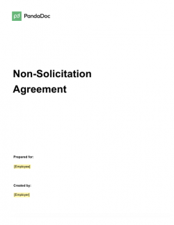 Non Solicitation Agreement Template