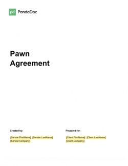 Pawn Agreement Template