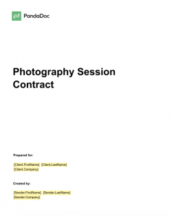 Photography Session Contract Template