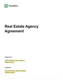 Real Estate Agency Agreement Template