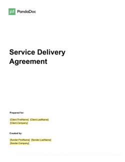 Service Delivery Agreement Template