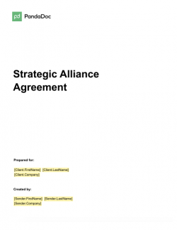 Strategic Alliance Agreement Template