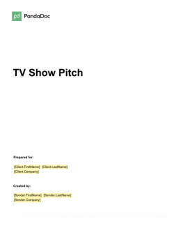 TV Show Pitch Template
