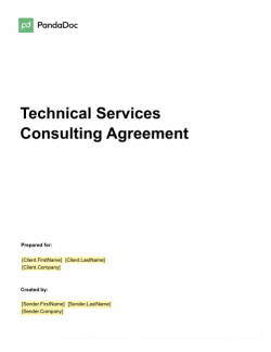 Technical Services Consulting Agreement Template