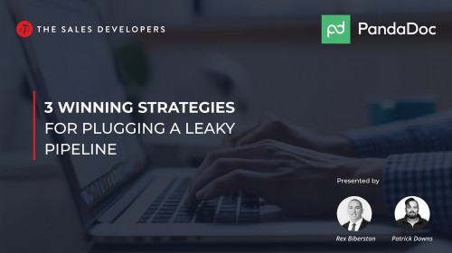 Together With The Sales Developers: 3 Winning Strategies For Plugging A Leaky Pipeline