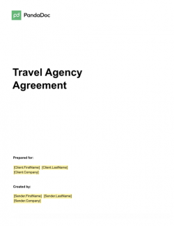 Travel Agency Agreement Template