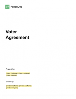 Voter Agreement Template