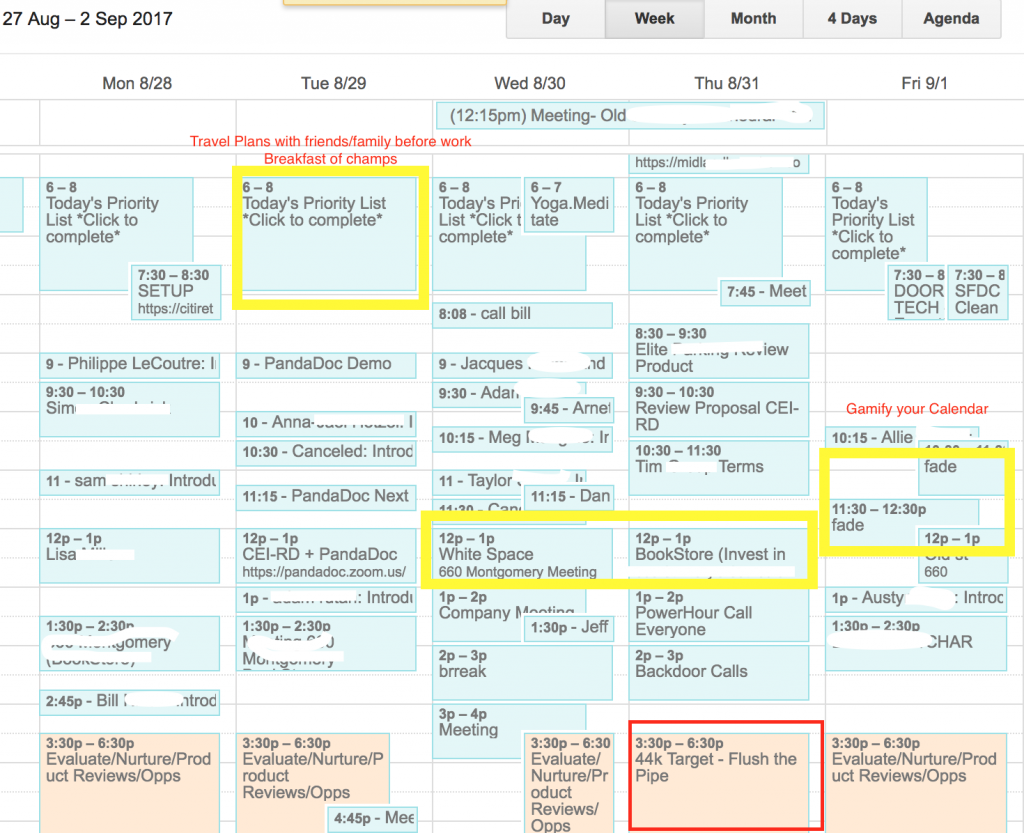 Creeping on a sales dashboard is useful when integrated with a calendar