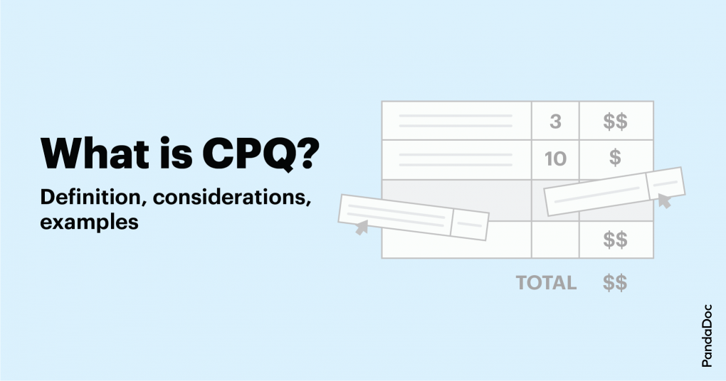 What is configure, price, quote (CPQ)?
